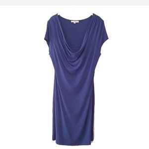 Knit drape neck dress L
